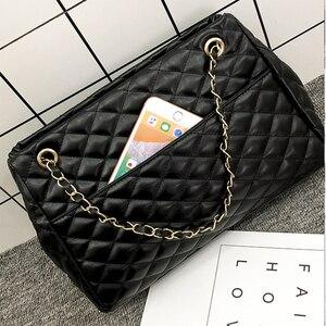 Image 4 - BelaBolso fil sacs à bandoulière grande capacité sacs à poignée supérieure pour les femmes chaîne sacs à main en cuir PU femmes sac de luxe femme HMB654