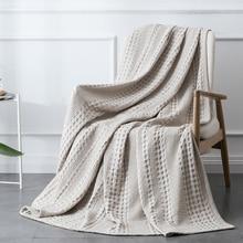 PHF hogar algodón textil tejido tipo gofre manta de punto casa lanza para sofá protectores de decoración colcha para cama adolescente dormir Manta