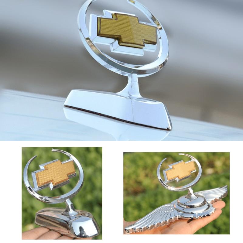 Metal 3D Car Front Hood Bonnet Sticker For Chevrolet Aveo Cruze Malibu Trax Lacetti Niva Captiva Chevy V8 Auto Emblem Decoration