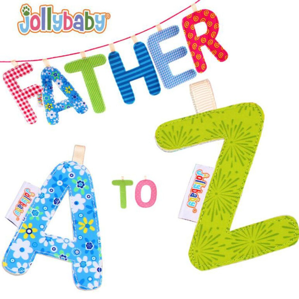 High Quality Alphabet Cloth Books A To Z Letters Educational Toys For Children Crib Gallery Stroller Teething Hanging Decor