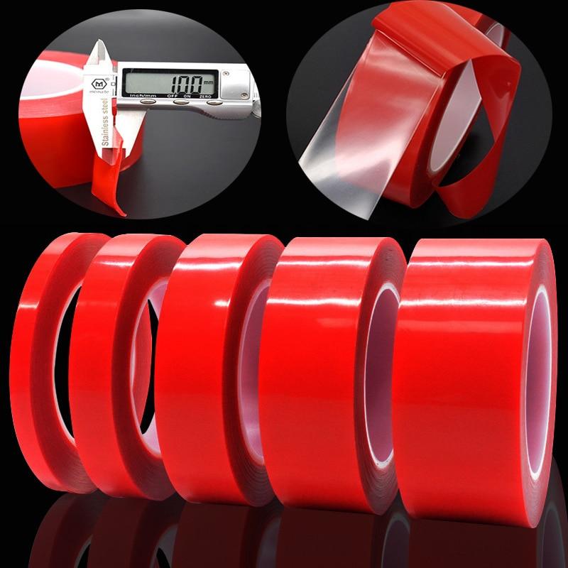 Çift taraflı bant Nano bant 3m 6/8/10/15/20/25/30/40mm genişlik şeffaf bant yıkanabilir yapıştırıcı Nano Traceless Sticker tutkal