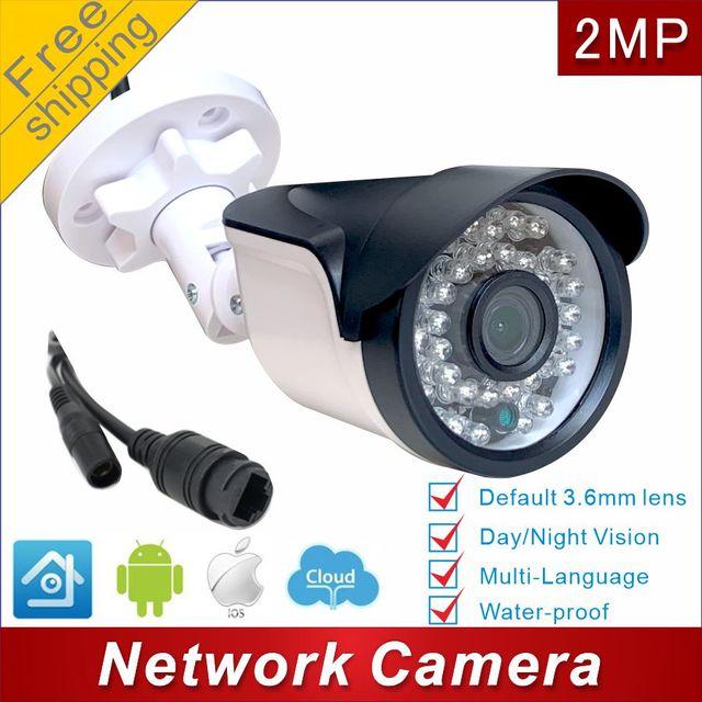 H.265 Poe Ip Camera Outdoor 1080P Cctv Camera Onvif Poe Xm P2p Cloud Mini 24 Uur Video Surveillance