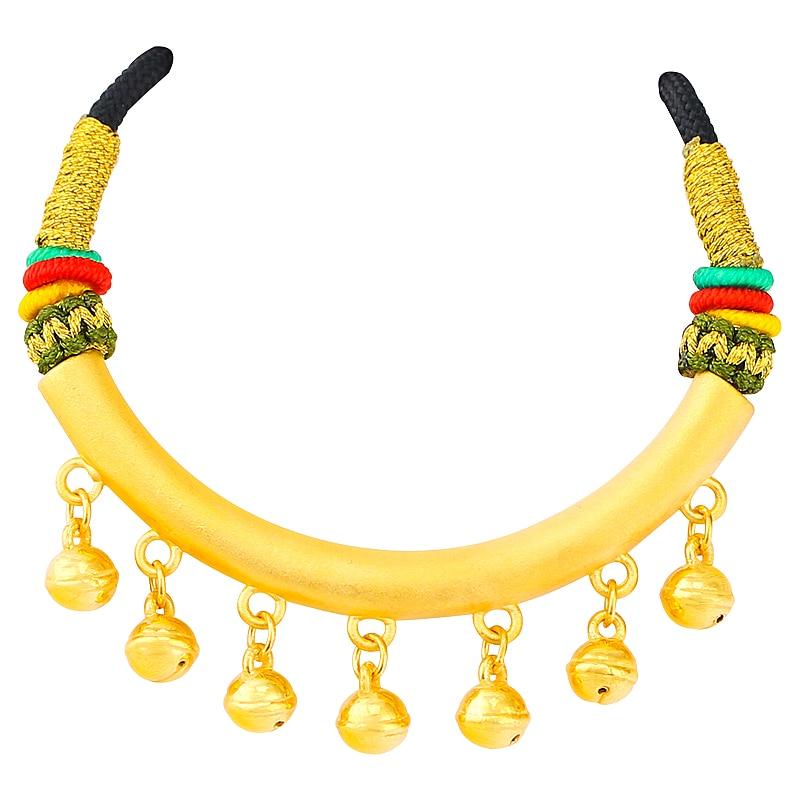 Offre spéciale 999 24K or jaune pendentif femmes 3D style ethnique petite cloche collier pendentif - 3