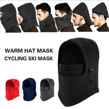 Practical Cossack Cap Snow Cap Mask Earflap Winter Trapper Warm Ski Hat Durable Sport Equipment Fur Polyester Riding Portable image