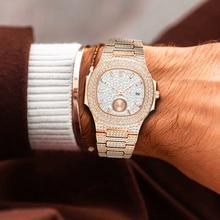 Relojes de lujo para hombre, de acero, de cuarzo, con cronógrafo AAA, dorado, rosa, Nautilus