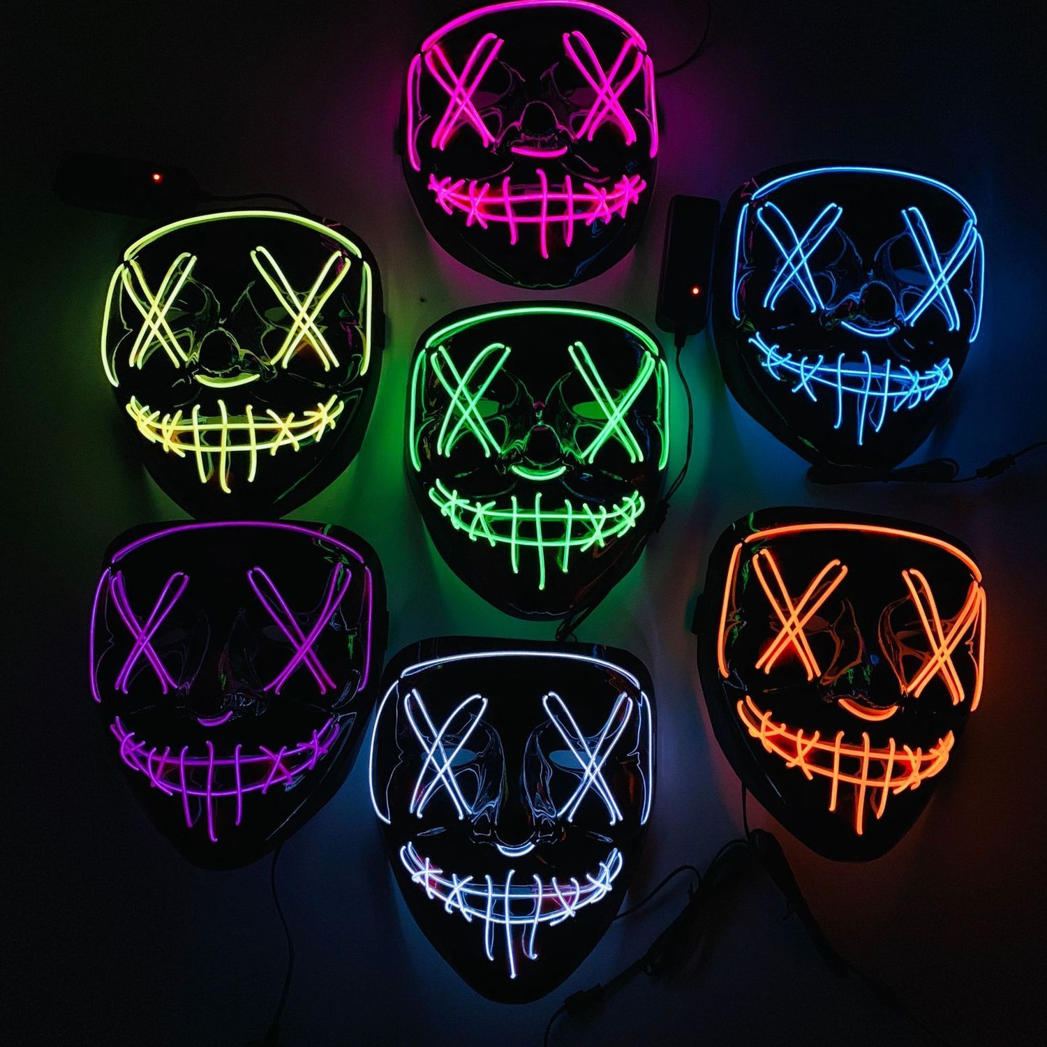 Halloween Mask LED Light Up Party Masks The Purge Election Year Great Funny Masks Festival Cosplay Supplies Costume Glow In Dark