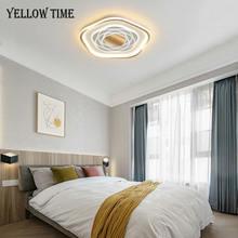 Простой светодиодный потолочный светильник черного и золотого