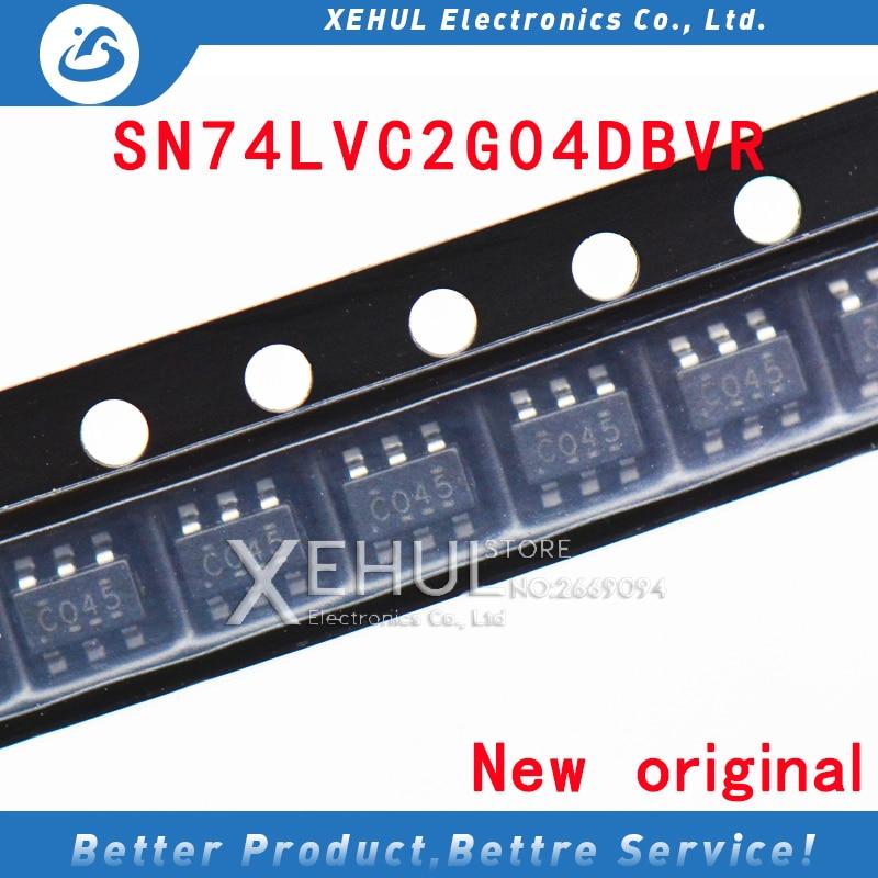 10 pces/100 pces sn74lvc2g04dbvr não porta 2-way 2-input inversor atual 32ma marcação c045 c04f c075 c025 SOT23-6 original novo