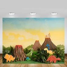 Mehofond Photography Backdrop Dinosaur Baby Shower Jungle Volcanic Children Birthday Party Background Decor Photo Studio Props