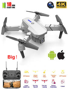 Rc-Drone Quadcopter UAV Camera Remote-Control Wifi Fpv E525 Height Foldable with 4K Wide-Angle