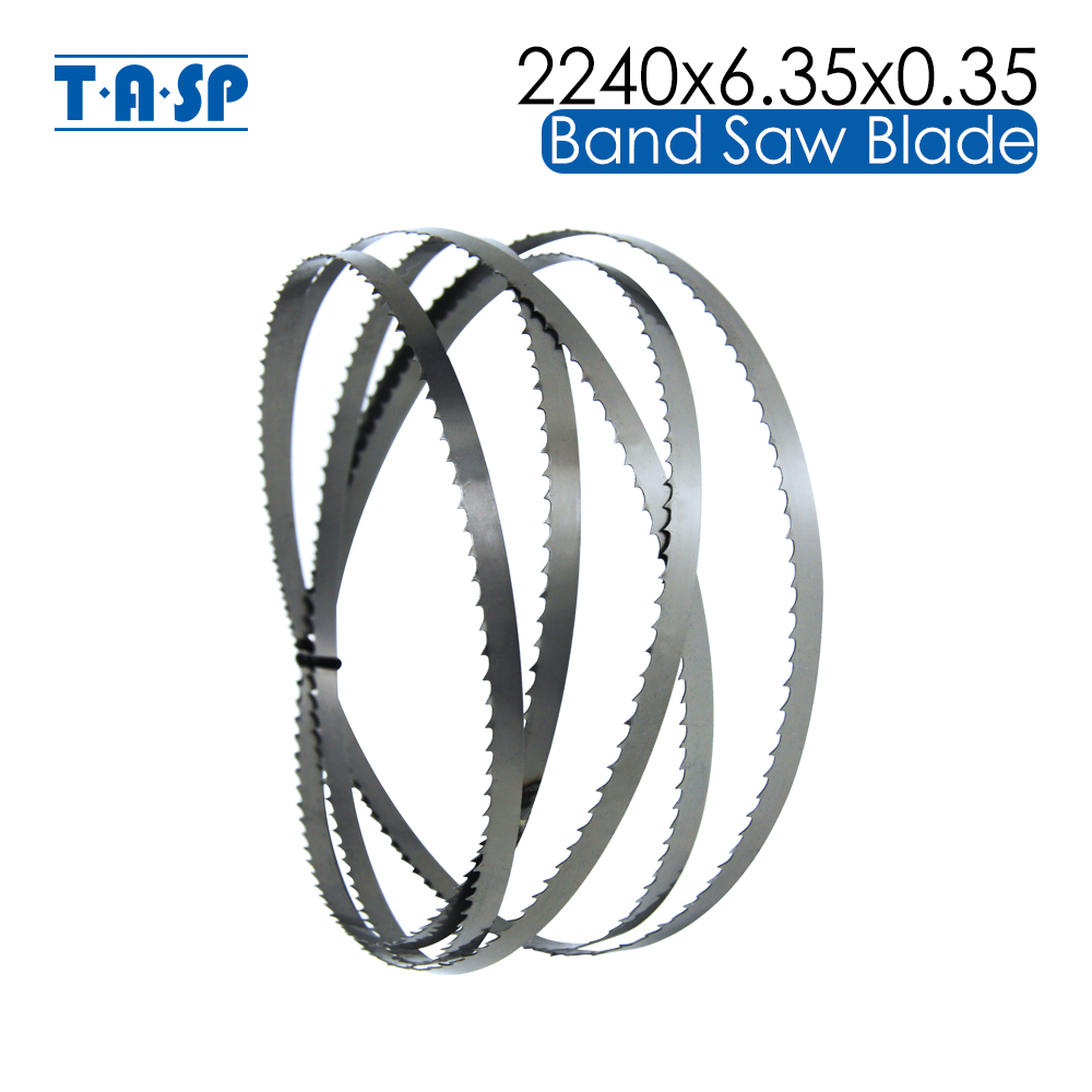 TASP 1 Piece 2240x6.35x0.35mm BandSaw Blade 88-1/4'' x 1/4'' x 6 TPI Woodworking Band Saw Blades For METABO BAS317 BAS 317 image