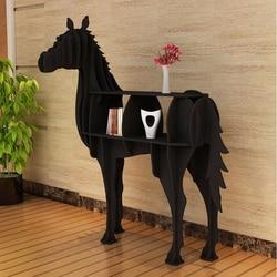 Gotowy do montażu życie rozmiar konia półka na książki/wykonane z tworzywa sztucznego drewna/kolorów do wyboru w Dekoracyjne litery i cyfry od Dom i ogród na