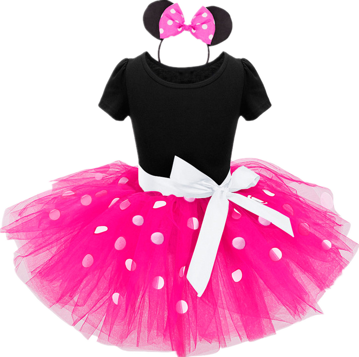 Baby Birthday Dress Girls Christmas Dress Baby Girl New Year Dress Up Clothes Birthday Party Polka Dots Casual Wear Vestidos 9