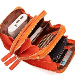 Image 5 - 3 kat büyük kapasiteli cep telefonu omuzdan askili çanta kadın iki zincir çanta kadın Mini çapraz postacı çantası küçük Tote çanta