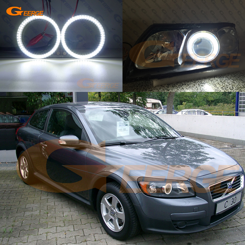 For Volvo C30 2006 2007 2008 2009 Pre Facelift Excellent Smd Led Angel Eyes Kit DRL Ultra Bright Illumination
