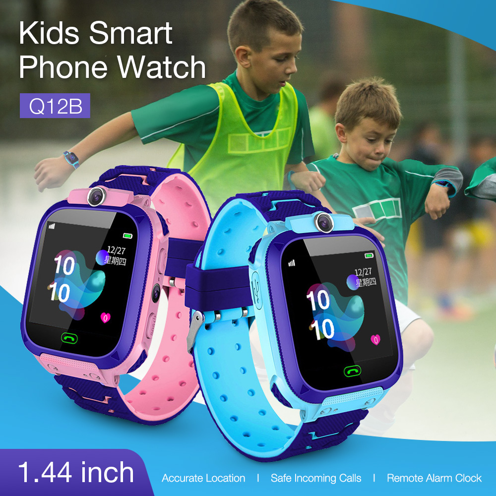 In Stock! 1.44'' Touch Screen Kids Smart Phone Watch Front-facing Camera SOS Call Safety Alarm Walkie Talkie Watches Toys Gifts