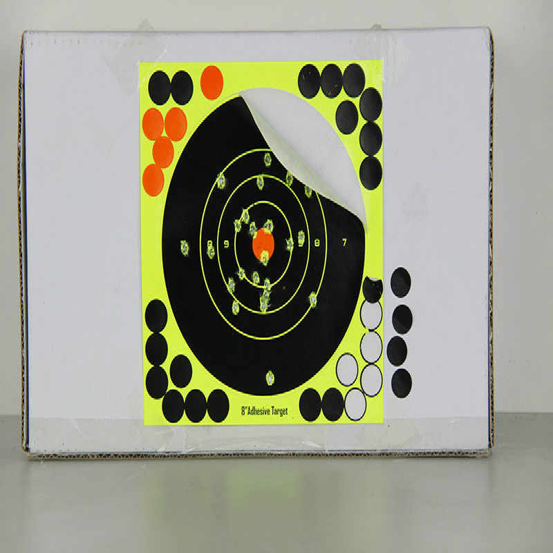 1 pçs venda quente verde fluorescente arma tiro alvo adesivo de tiro arco seta dardos suprimentos apontando adesivo