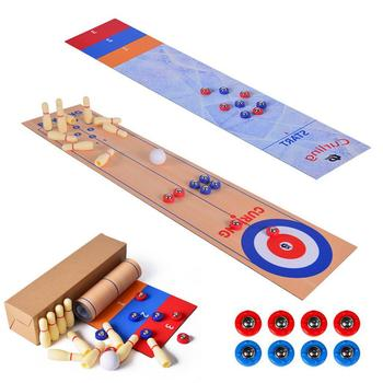 3 In 1 Table Top Games Shuffleboard Bowling Curling Games Toys For Children Christmas Friends Family Party Sports Game Toys