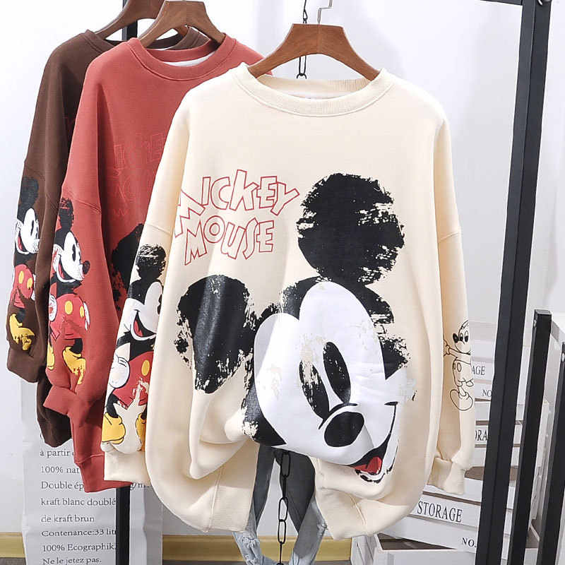 Disney Mickey mouse fille pull ample femme grande taille Mickey manteau veste sauvage