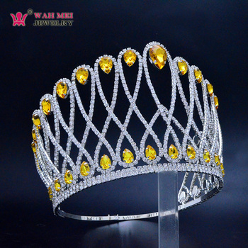 MO269 Austrian rhinestones crystal more colors custom 5.7 inches high bigger size pageant crowns tiara for woman pretty girls