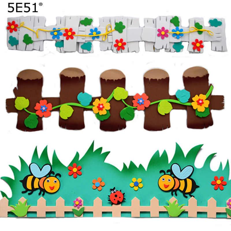 Przedszkole szkoła klasie dekoracji cartoon balustrady pszczoła ślimak ogrodzenia kwiat
