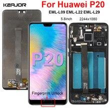 Display Für Huawei P20 EML-L09 L22 L29 LCD Bildschirm Ersatz Digitizer Montage Für Huawei P20 P 20 Display Mit Fingerprint