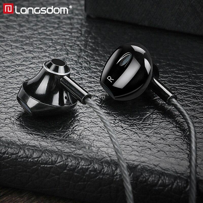 Langsdom Music Hifi Earphones Wired Headset with Microphone 3.5mm Stereo In Ear Earbuds for Xiaomi Huawei fone de ouvido|headset with microphone|phone earphone|earphone gold - AliExpress