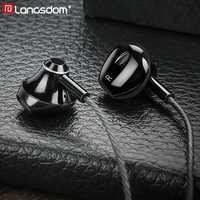 Langsdom Musica Hifi Auricolari Auricolare Con Cavo con Microfono Stereo da 3.5mm In Ear Auricolari per Xiaomi Huawei fone de ouvido