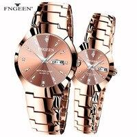 Корейская версия простой моды Вольфрамовая сталь студенческие часы Мужские Женские часы пара водонепроницаемые ультра-тонкие кварцевые м...
