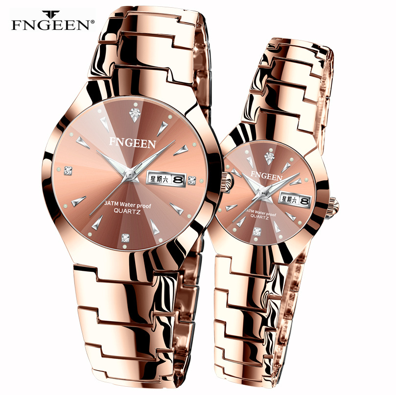 Korean Version Of The Simple Fashion Tungsten Steel Student Watch Men's Women's Watch Couple Waterproof Ultra-thin Quartz Men's