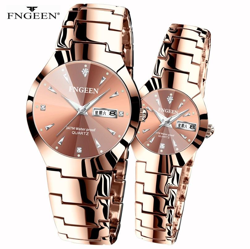 Korean Version Of The Simple Fashion Tungsten Steel Student Watch Men's Women's Watch Couple Waterproof Ultra-thin Quartz Men's