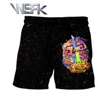 WSFK new sports casual shorts rick and morty funny personality mens