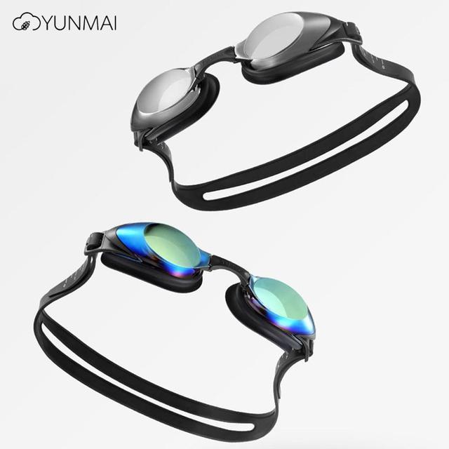 Yunmai yüzme gözlükleri seti HD anti sis burun güdük kulaklıklar silikon yüzücü gözlükleri siyah altın kiti