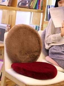 Cushion Plush-Fabric Soft Cotton Round Rabbit 42x42cm Padded Chair Memory Warm-Pad Smooth