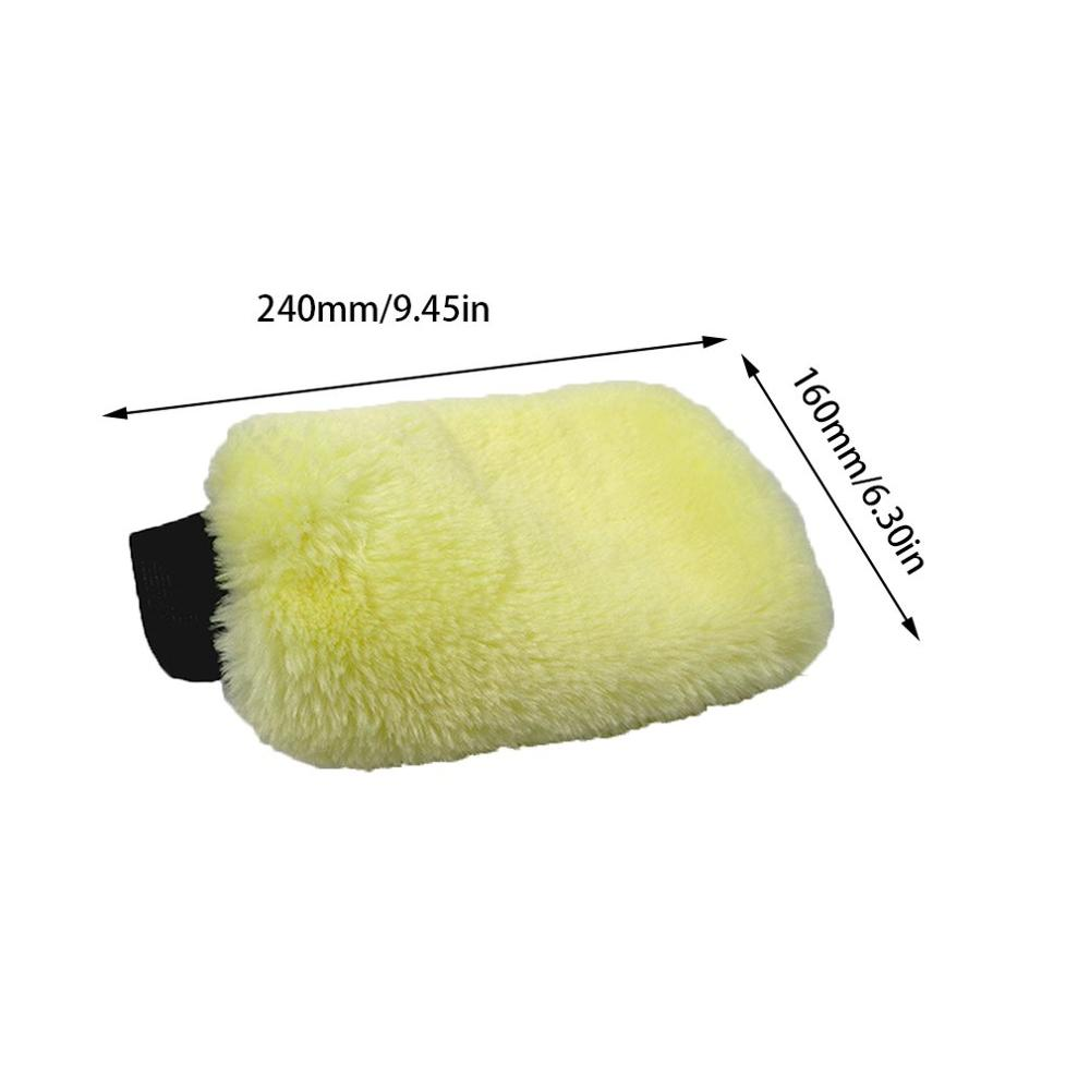 Car Wash Wool Gloves Wool Velvet Waxing Thick Double-Sided Gloves Car Cleaning Tools Cleaning Supplies