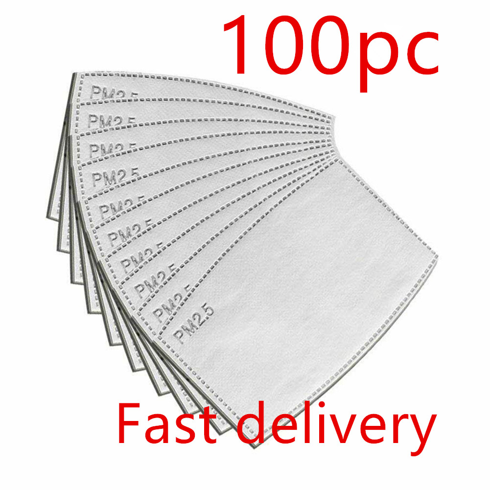 100/50/30Pcs PM2.5 Protective Filter 5 Layers Replaceable Anti Haze Filters For Mouth Masks Face Mask Adult Mask Prevent Saliva
