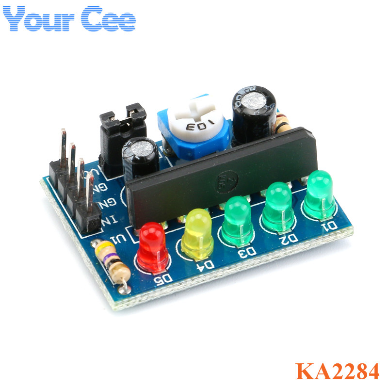KA2284 Audio Level Indicator <font><b>Circuit</b></font> Power Level Indicator Module <font><b>LED</b></font> Level Indicating Module 3.5V-<font><b>12V</b></font> Controller AC DC <font><b>Board</b></font> image