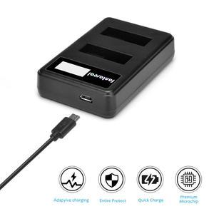 Image 5 - AABAT 001 LCD affichage double canal caméra chargeur de batterie pour Gopro Hero 5 noir caméra batterie chargeur rapide avec indicateur