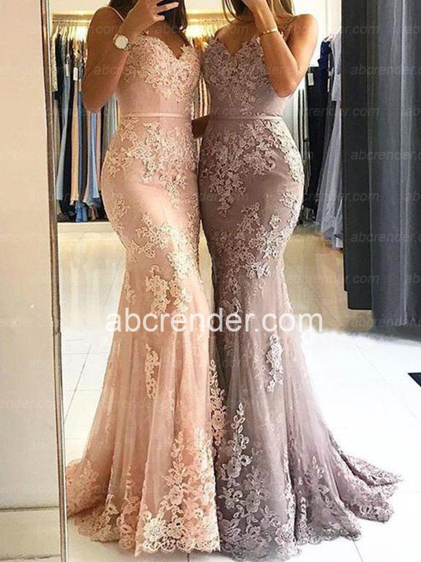 Hot Sale Mermaid   Prom     Dresses   2019 Robe de soiree Lace Appliques Backless Evening   Dresses   Long Abendkleider Formal   Dress