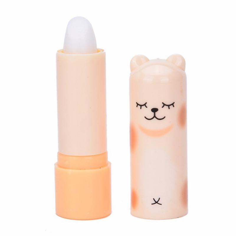 Natural Plant Lip Balm Moisture Colourless Cartoon Lip Balm Fruit Embellish Lipstick Baby Lips Lip Care Random Colors TSLM1