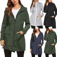 Regenbekleidung Anzug frauen Solide Regen Jacke Regenmantel Verdickt Wasserdichte Schutz Kleidung Erwachsene Klar Transparent Camping Hoodie