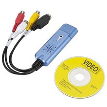 USB 2.0 dispositif de carte de Capture vidéo, VHS magnétoscope TV vers DVD convertisseur pour Mac OS X PC Windows 7 8 10