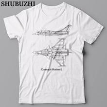 Shubuzhi mode marque de haute qualité de drôle avion de chasse Dassault Rafale-T-Shirt, avion T-Shirt, Airforce cadeau T-Shirt