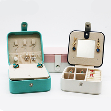 Upscaled And Simple Jewelry Case Protable Leather Necklase Ring Earrings organizer Multifunction Jewellery Storage Box