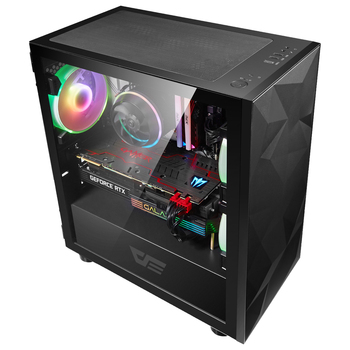 Darkflash DLM21 desktop computer case gabinete pc gamer completo small mini matx/itx htpc chasis Tempered glass gaming pc case 2