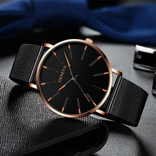 Simple Men's Net With Color Pointer Colorful Scale Watch Fashion Stainless Steel Aquartz Men Watches montre homme FJSL