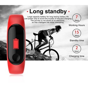 Image 2 - Smart Watch M3 Bracelet Wristband Heart Rate Monitor Blood Pressure Fitness Tracker Life Waterproof Sport Adult