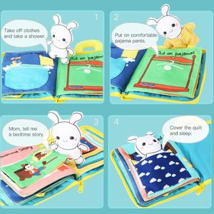 Image 3 - Beiens 3D Soft Cloth Baby Books Animals&Vehicle Montessori Baby Toys For Toddlers Intelligence Development Educational Toy Gifts