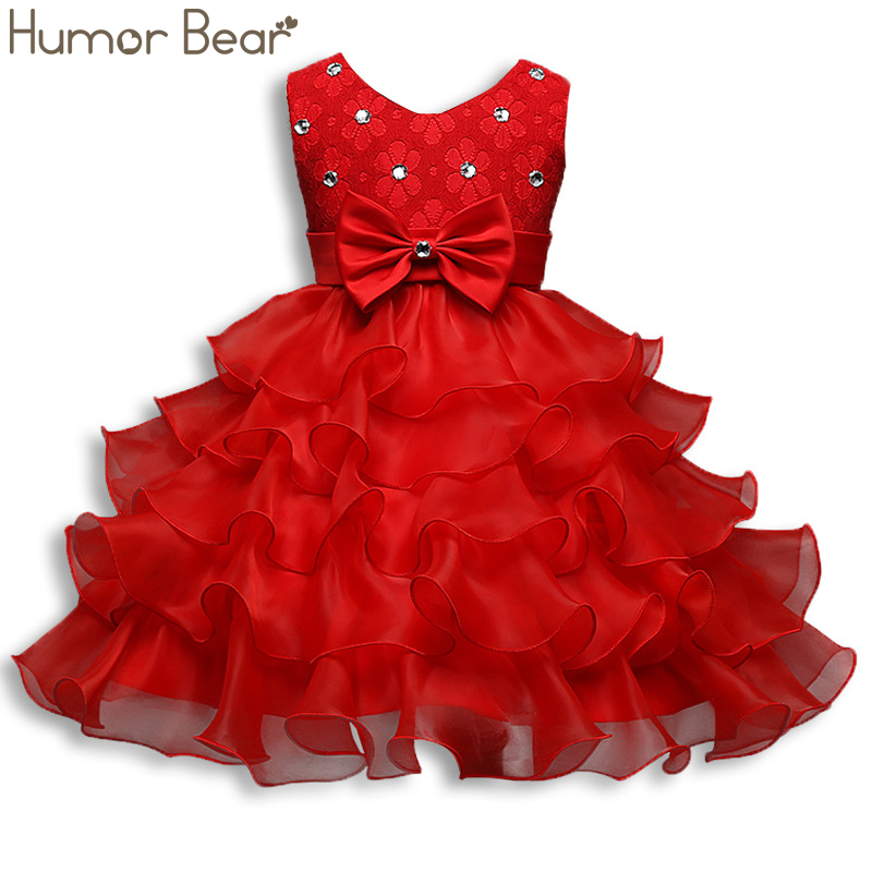 Humor Bear Girls Dress 2019 Brand New Summer <font><b>Princess</b></font> <font><b>Toddler</b></font> Baby Dresses image