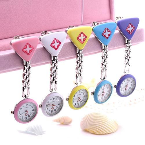 Fashion Clock Round Triangular Nurse Doctor Watch Hanging Watch New Zegarek Damski Ladies Women Doctor  Medical Watches